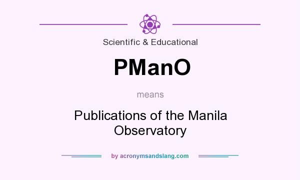 What does PManO mean? It stands for Publications of the Manila Observatory