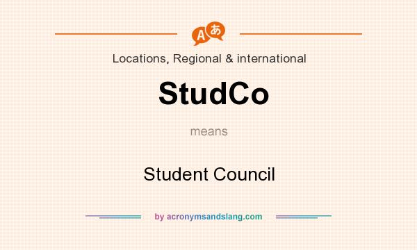 What does StudCo mean? It stands for Student Council