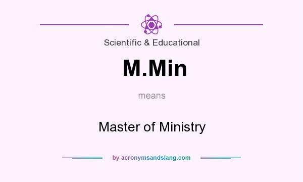 What does M.Min mean? It stands for Master of Ministry