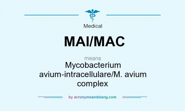 What does MAI/MAC mean? It stands for Mycobacterium avium-intracellulare/M. avium complex