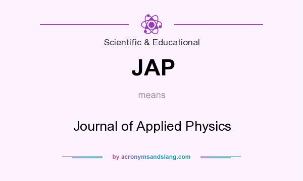 What does JAP mean? It stands for Journal of Applied Physics