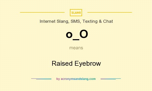 What does o_O mean? It stands for Raised Eyebrow