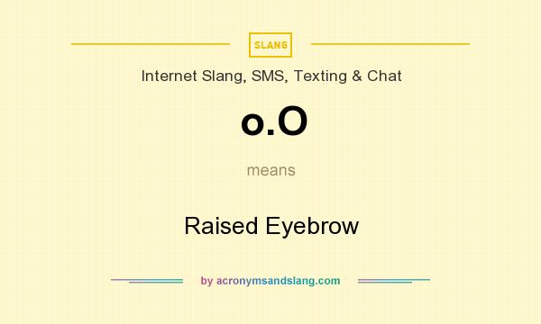 What does o.O mean? It stands for Raised Eyebrow