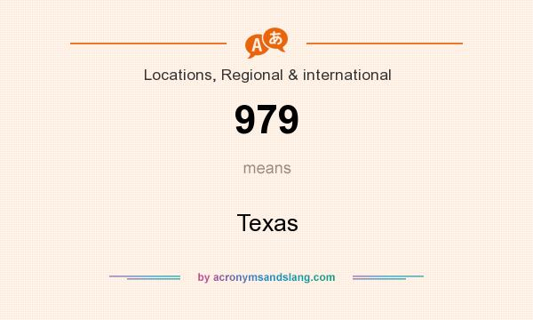 What does 979 mean? It stands for Texas