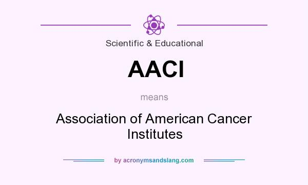 What does AACI mean? It stands for Association of American Cancer Institutes