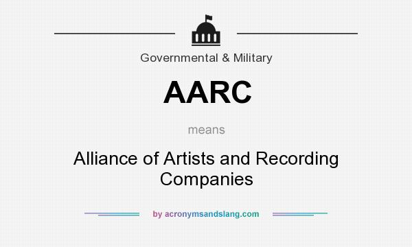 What does AARC mean? It stands for Alliance of Artists and Recording Companies