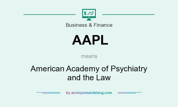 What does AAPL mean? It stands for American Academy of Psychiatry and the Law