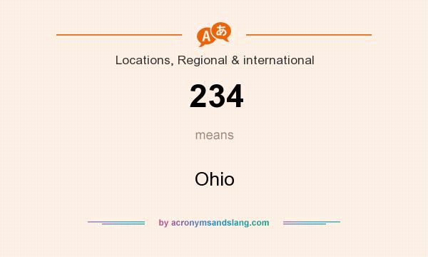 What does 234 mean? It stands for Ohio