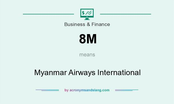 What does 8M mean? It stands for Myanmar Airways International