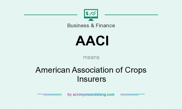 What does AACI mean? It stands for American Association of Crops Insurers