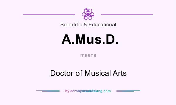 What does A.Mus.D. mean? It stands for Doctor of Musical Arts
