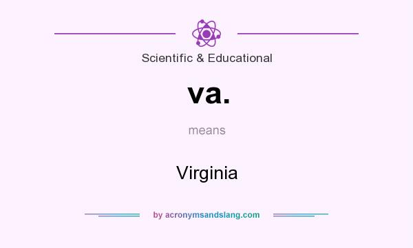 What does va. mean? It stands for Virginia
