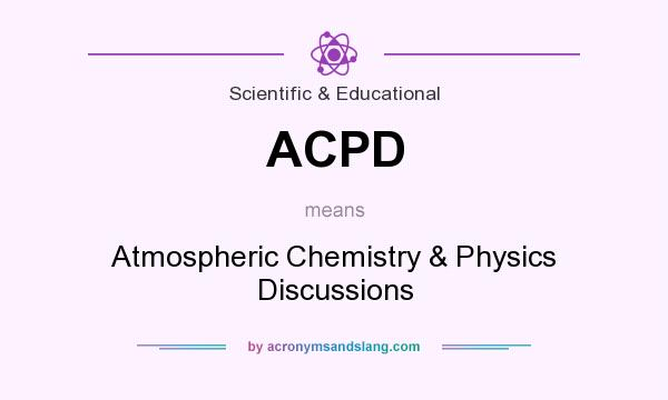 What does ACPD mean? It stands for Atmospheric Chemistry & Physics Discussions