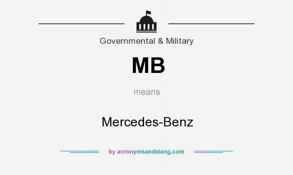 What does MB mean? It stands for Mercedes-Benz