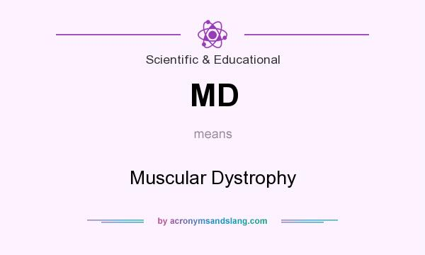 What does MD mean? It stands for Muscular Dystrophy