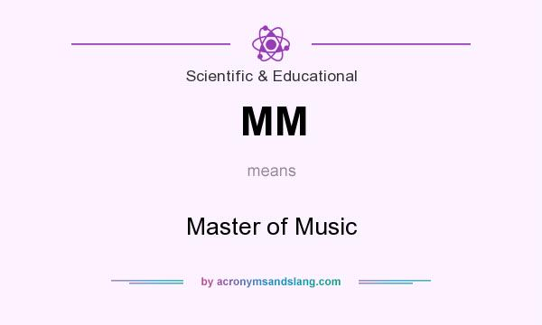 What does MM mean? It stands for Master of Music