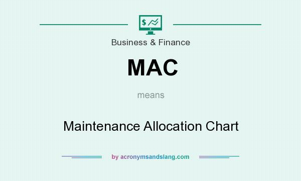 What does MAC mean? It stands for Maintenance Allocation Chart