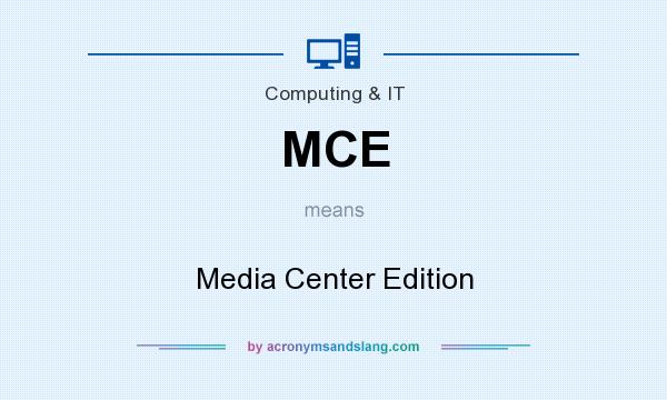 What does MCE mean? It stands for Media Center Edition