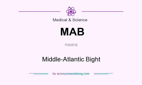 What does MAB mean? It stands for Middle-Atlantic Bight