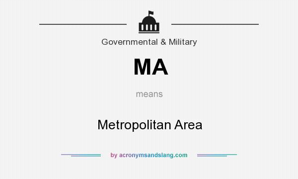 What does MA mean? It stands for Metropolitan Area