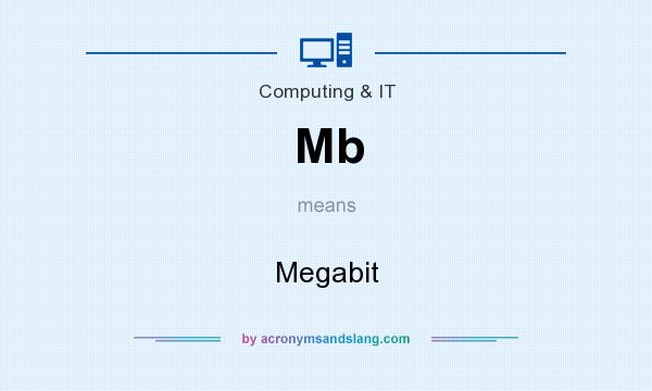 What does Mb mean? It stands for Megabit