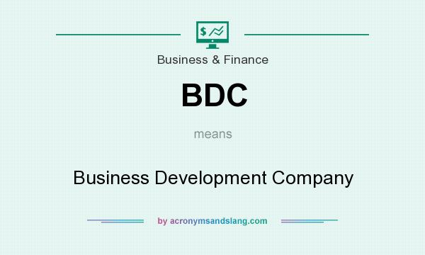 What does BDC mean? It stands for Business Development Company