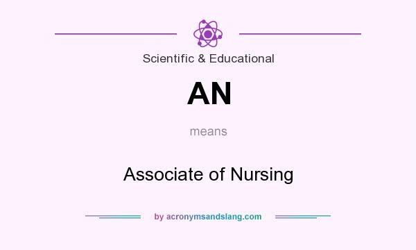 What does AN mean? It stands for Associate of Nursing