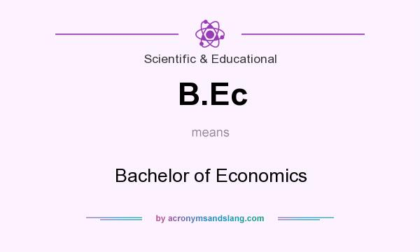 What does B.Ec mean? It stands for Bachelor of Economics