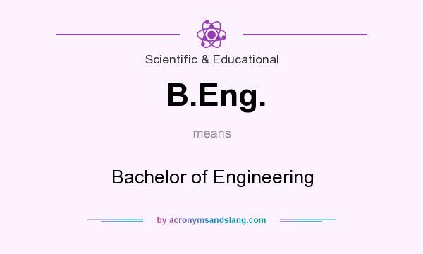 What does B.Eng. mean? It stands for Bachelor of Engineering