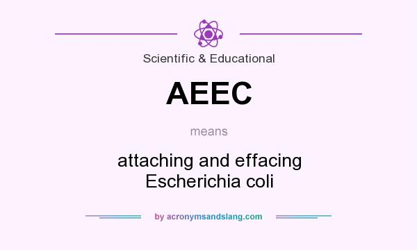 What does AEEC mean? It stands for attaching and effacing Escherichia coli