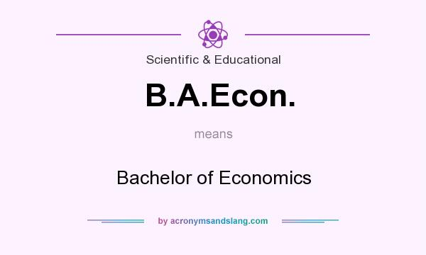 What does B.A.Econ. mean? It stands for Bachelor of Economics