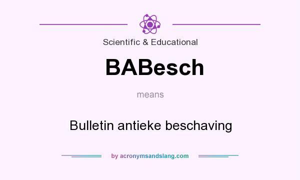 What does BABesch mean? It stands for Bulletin antieke beschaving