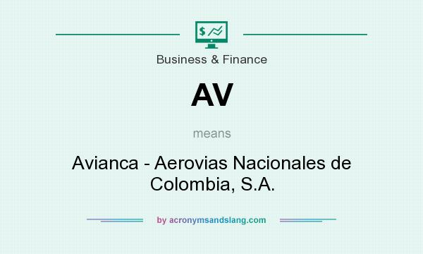 What does AV mean? It stands for Avianca - Aerovias Nacionales de Colombia, S.A.