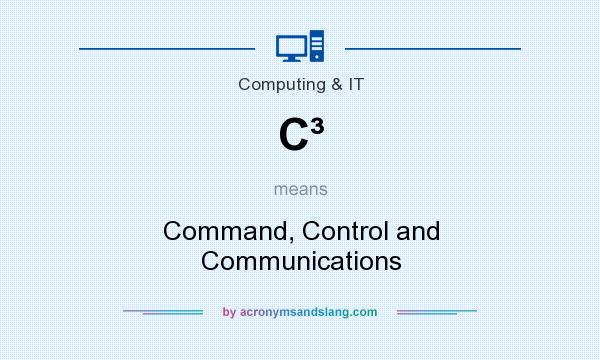 What does C³ mean? It stands for Command, Control and Communications