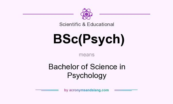 What does BSc(Psych) mean? It stands for Bachelor of Science in Psychology