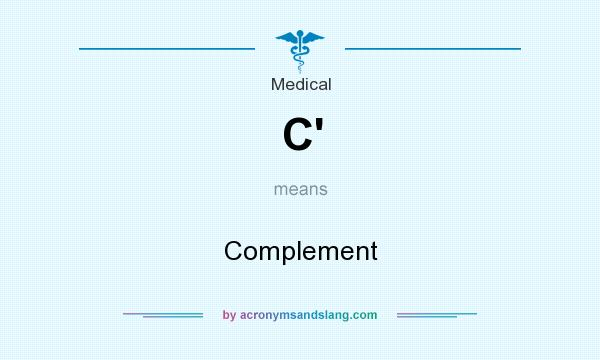 What does C` mean? It stands for Complement