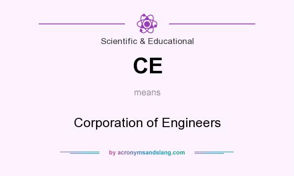 What does CE mean? It stands for Corporation of Engineers