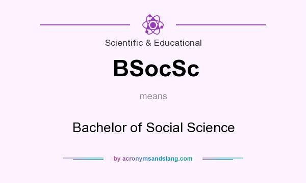 What does BSocSc mean? It stands for Bachelor of Social Science