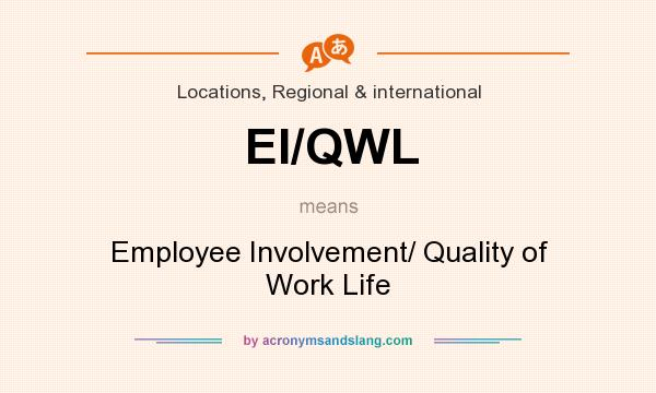 What does EI/QWL mean? It stands for Employee Involvement/ Quality of Work Life