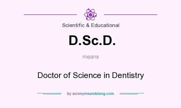 What does D.Sc.D. mean? It stands for Doctor of Science in Dentistry