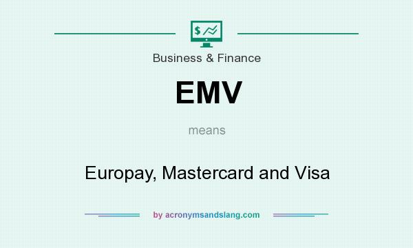What does EMV mean? It stands for Europay, Mastercard and Visa