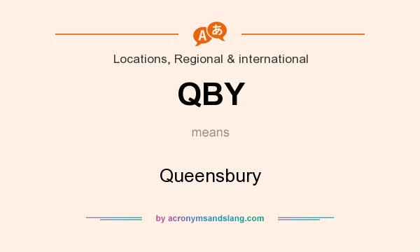 What does QBY mean? It stands for Queensbury