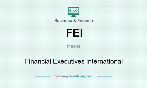 What does FEI mean? It stands for Financial Executives International
