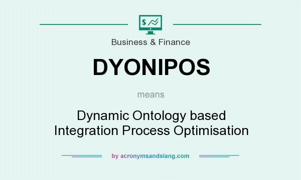 What does DYONIPOS mean? It stands for Dynamic Ontology based Integration Process Optimisation