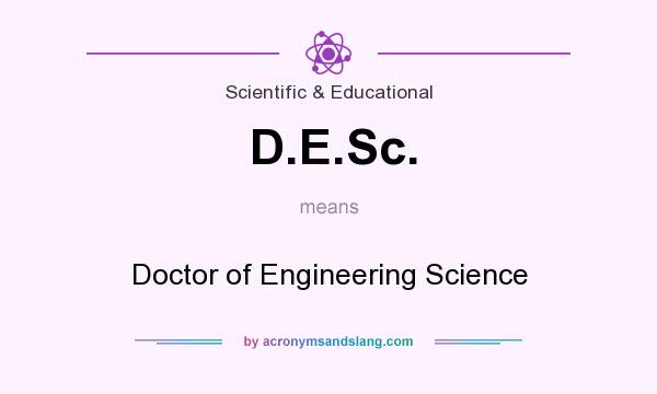 What does D.E.Sc. mean? It stands for Doctor of Engineering Science