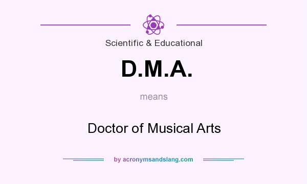 What does D.M.A. mean? It stands for Doctor of Musical Arts