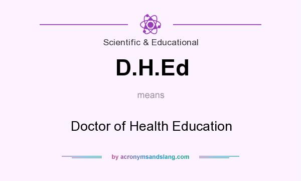 What does D.H.Ed mean? It stands for Doctor of Health Education