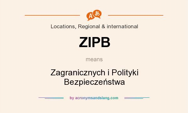 What does ZIPB mean? It stands for Zagranicznych i Polityki Bezpieczeństwa
