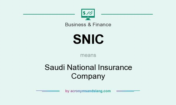 What does SNIC mean? It stands for Saudi National Insurance Company