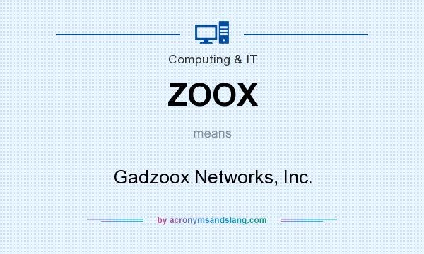 What does ZOOX mean? It stands for Gadzoox Networks, Inc.